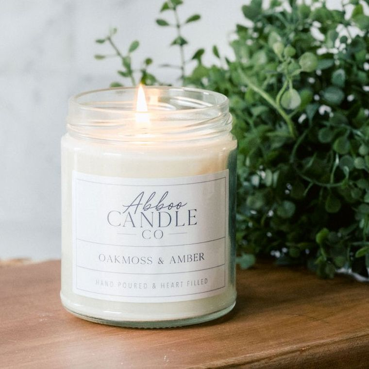 Oakmoss & Amber Soy Candle by Abboo Candle Co