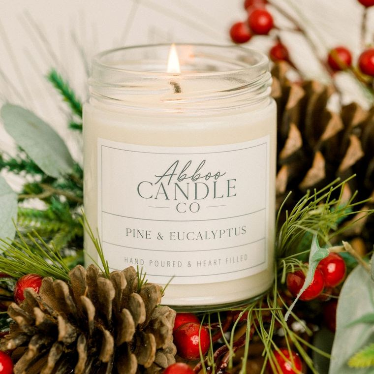 Pine & Eucalyptus Soy Candle by Abboo Candle Co