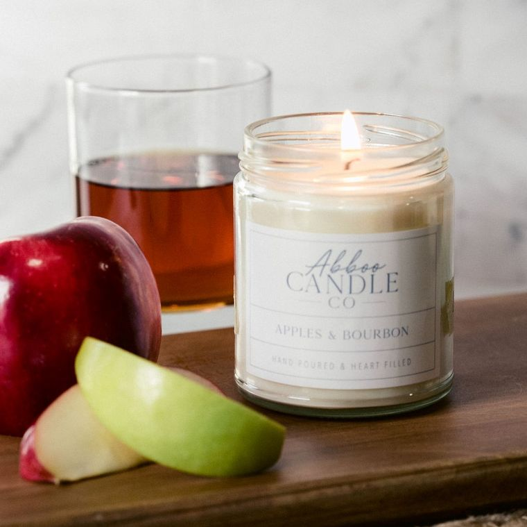 Apples & Bourbon Soy Candle by Abboo Candle Co