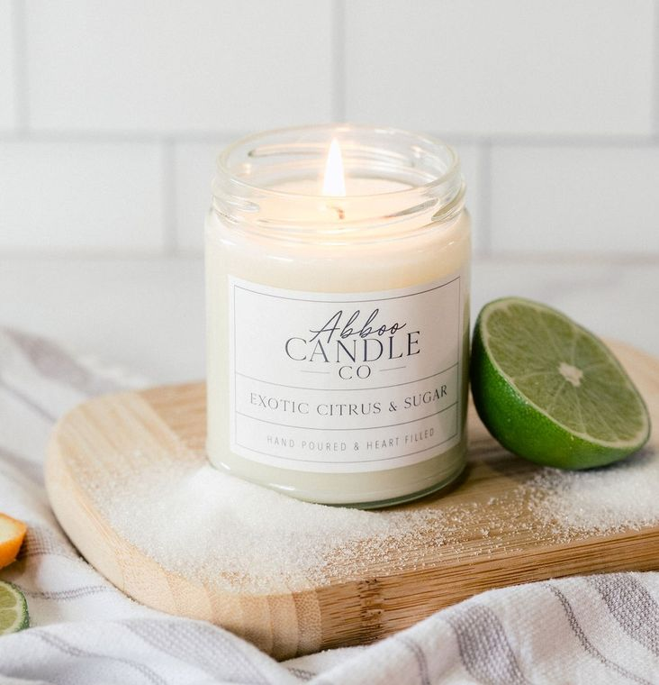 Exotic Citrus & Sugar Soy Candle by Abboo Candle Co