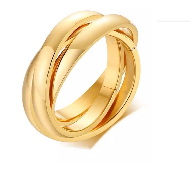 Golden Trinity Ring