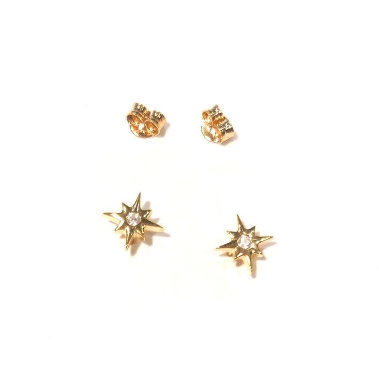 Mini Crystal Star Studs