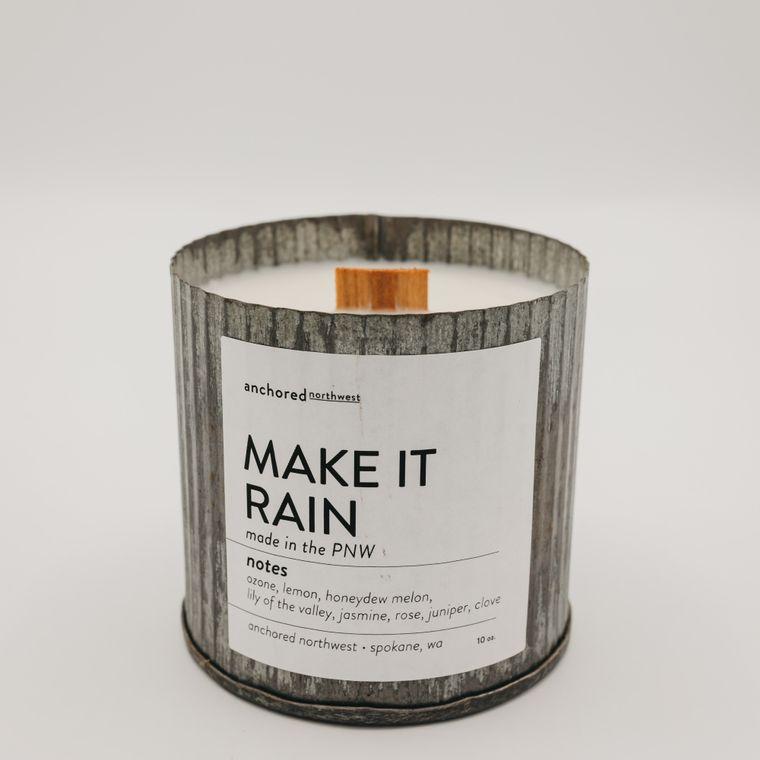 Rustic Vintage Soy Candle - Make It Rain (10oz)