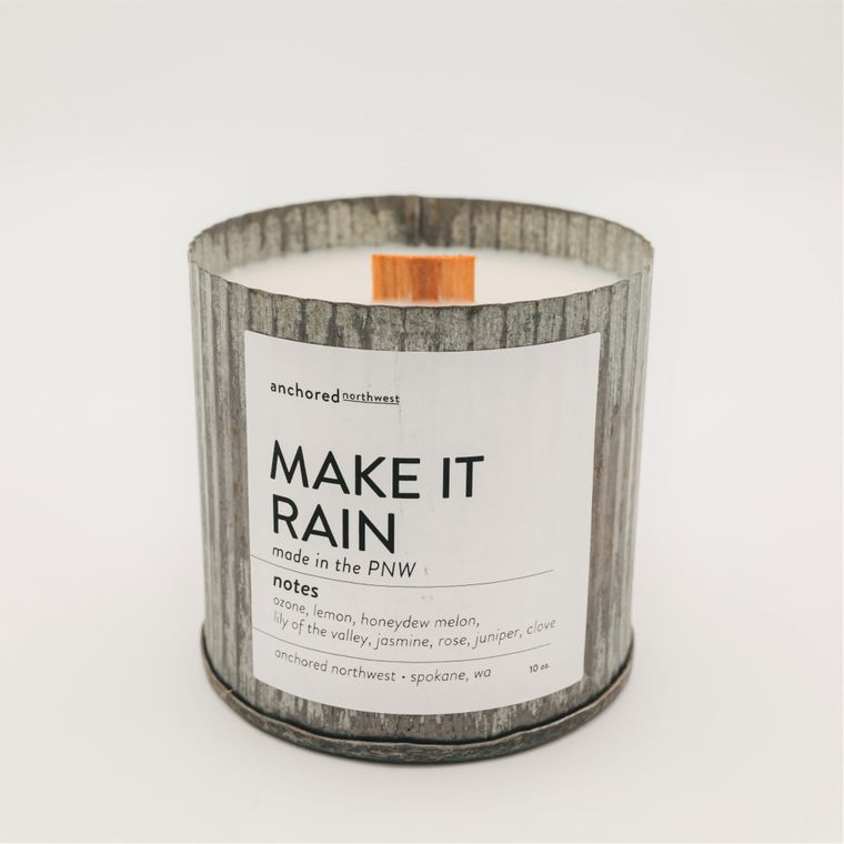 Make It Rain - Rustic Vintage Wood Wick Candle