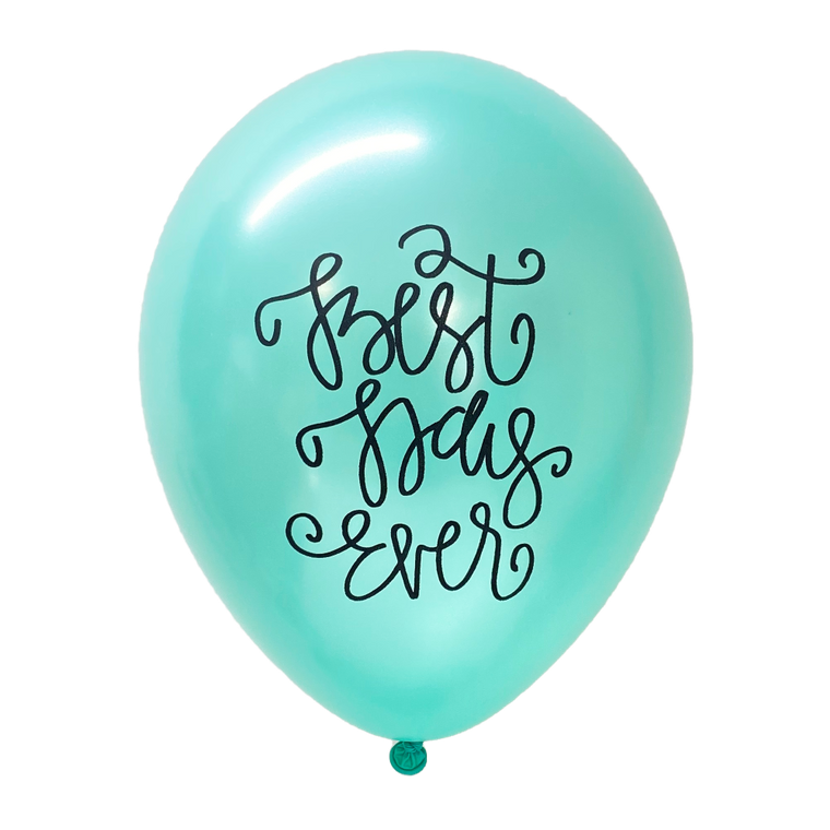 Best Day Ever (Mint Green) Latex Balloons