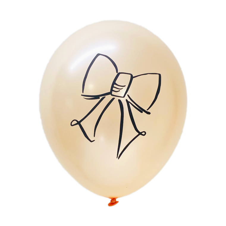 Bow Hand Lettered Latex Balloons