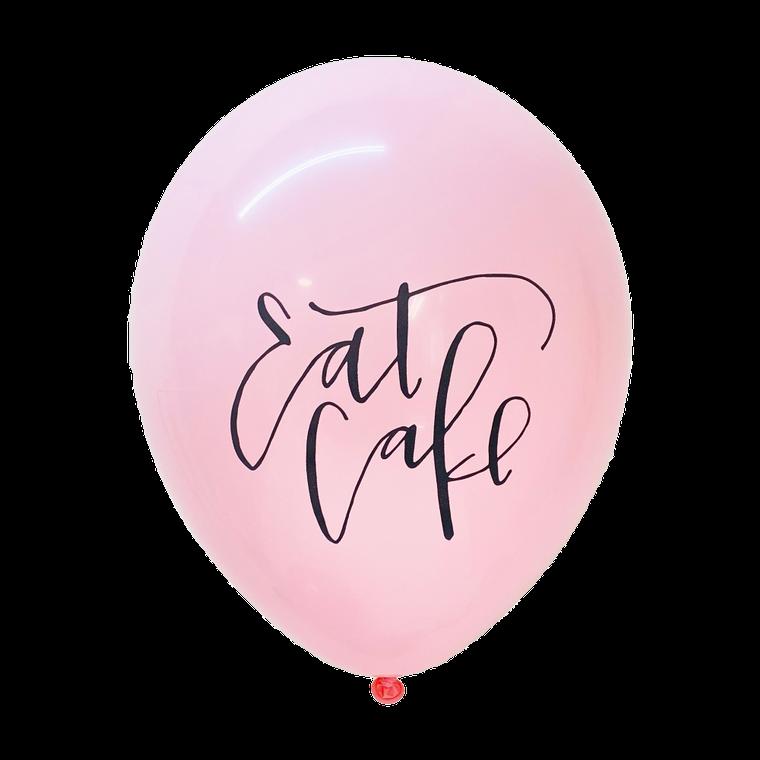 Eat Cake Latex Balloons