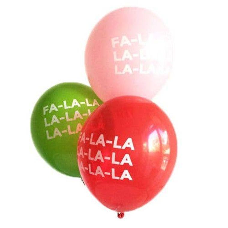 Fa-La-La-La-La-La Latex Balloons