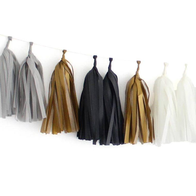 Tuxedo Tissue Garland Kit
