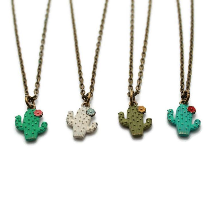 Cactus Bloom Charm Necklace, Bracelet, or Charm Only