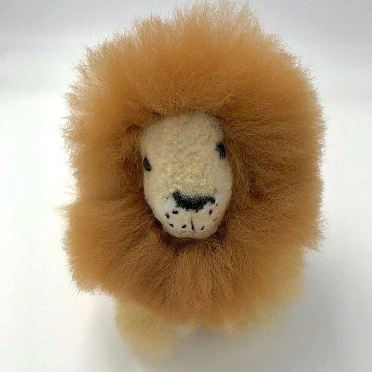 Handmade Alpaca Little Lion Toy