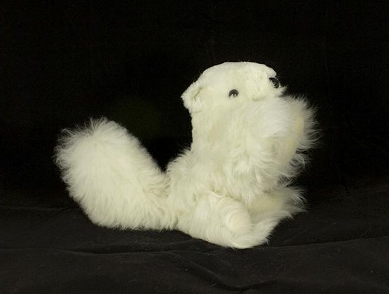 Handmade Alpaca Squirrel Toy