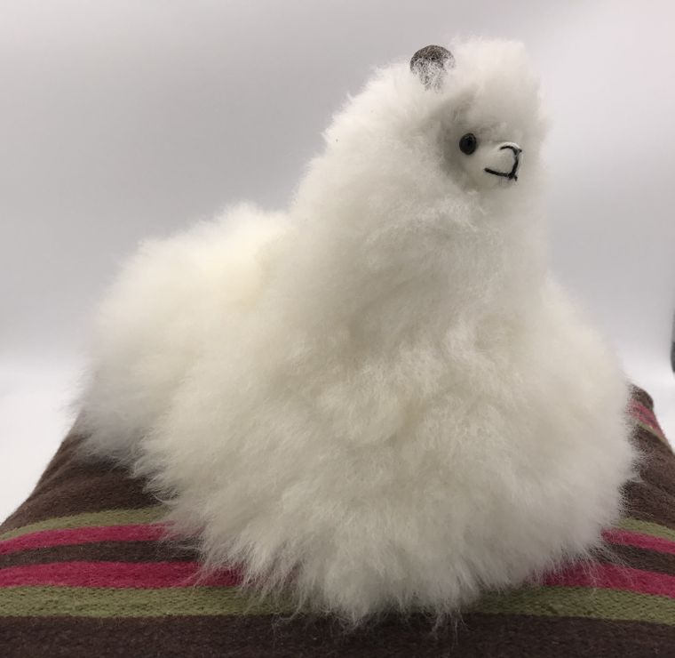 Handmade Sitting Alpaca Toy