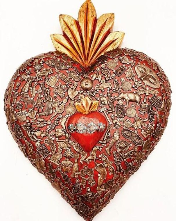 "Miracle ""Milagros"" Nesting Heart Home Decor"