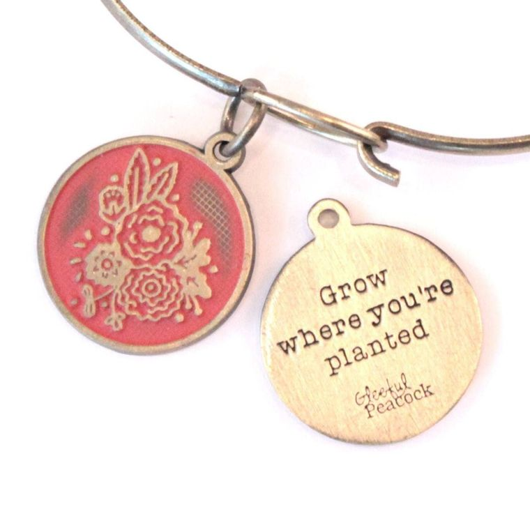 Grow Token Charm Necklace, Bracelet, or Charm Only