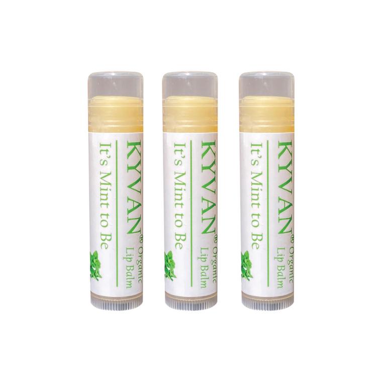 KYVAN Eucalyptus Mint Lip Balm - 3 pack