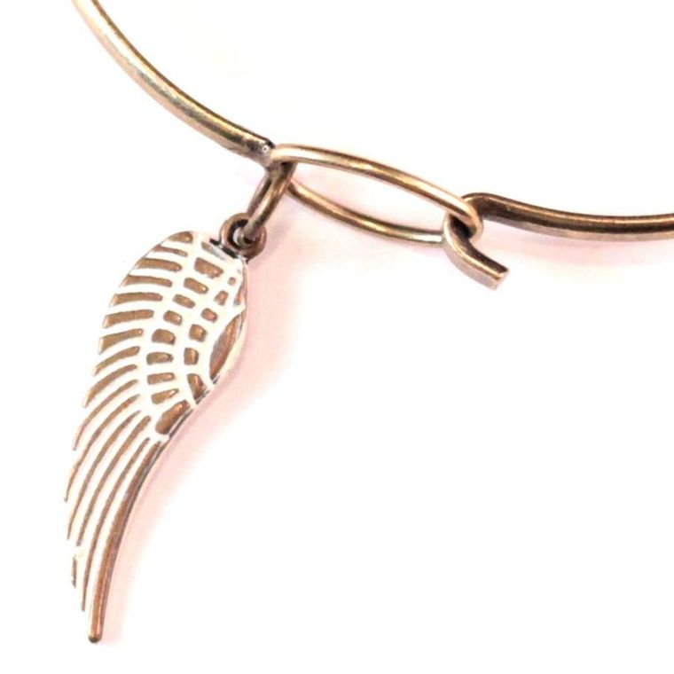 Wing Charm Necklace, Bracelet, or Charm Only