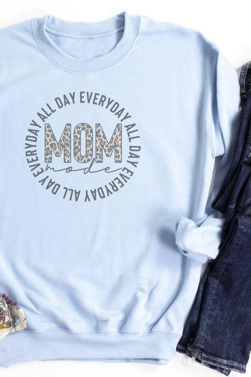MOM MODE UNISEX CREW SWEATSHIRT