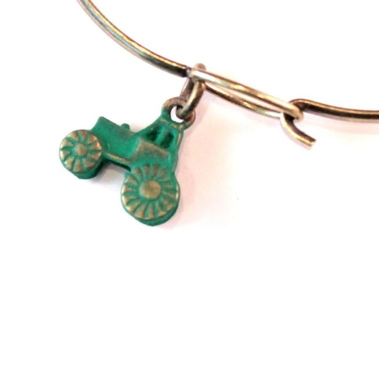Tractor Charm Necklace
