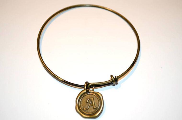 Wax Seal Initial Charm Bracelet