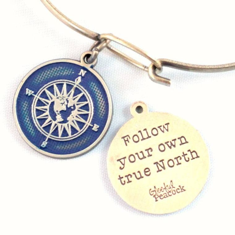True North Token Charm Bracelet