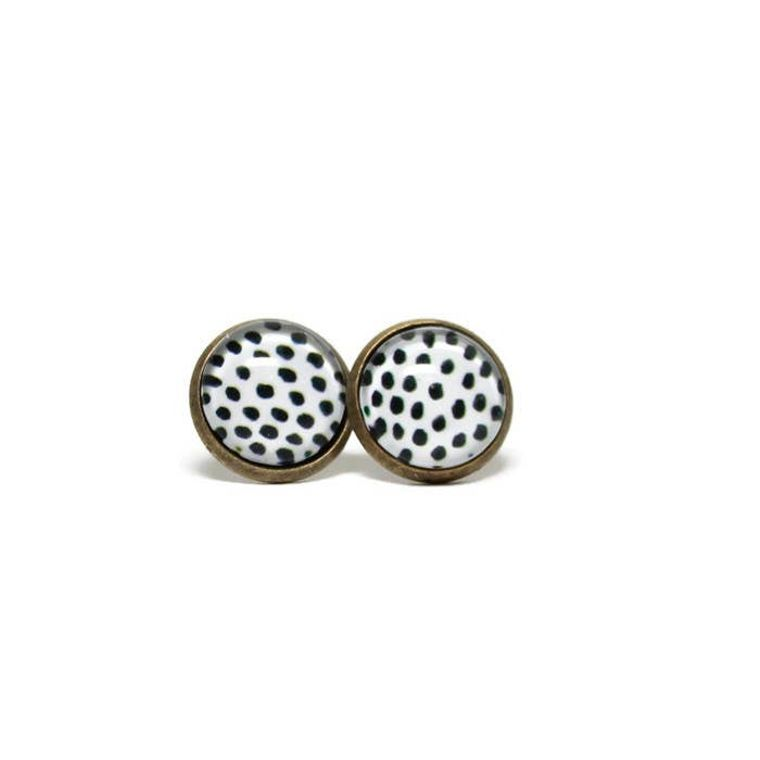 Polka-dot Stud Earrings