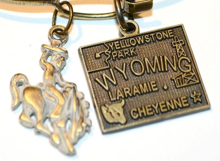 Wyoming State Bracelet (2 Charm)