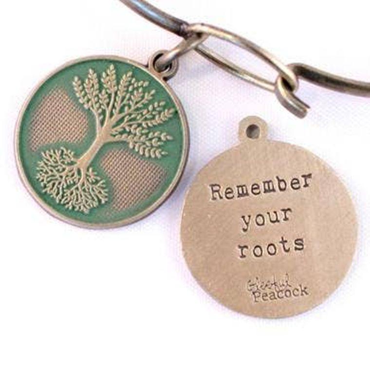 Roots Token Charm Bracelet