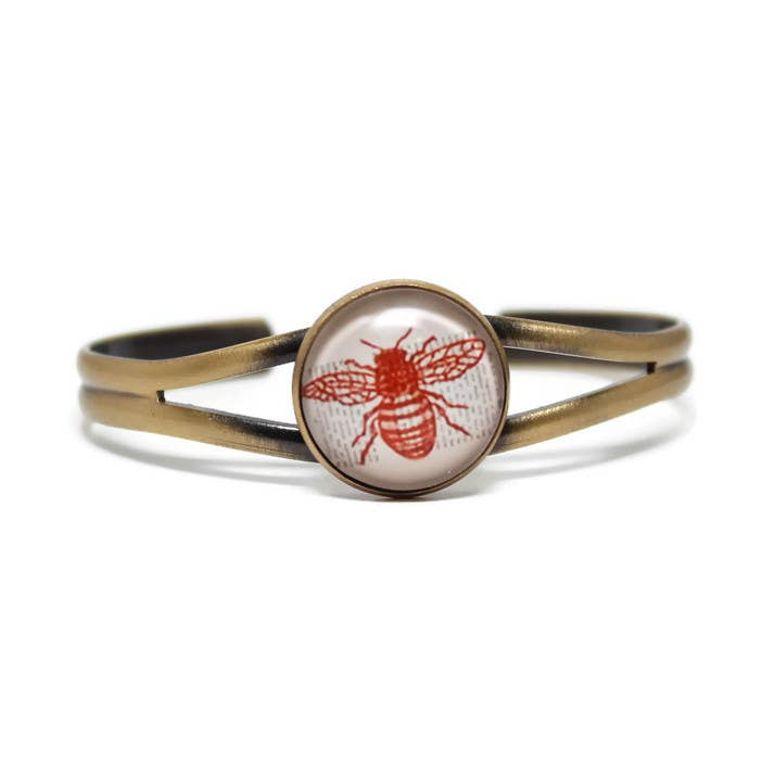 Bee Dome Cuff Bracelet