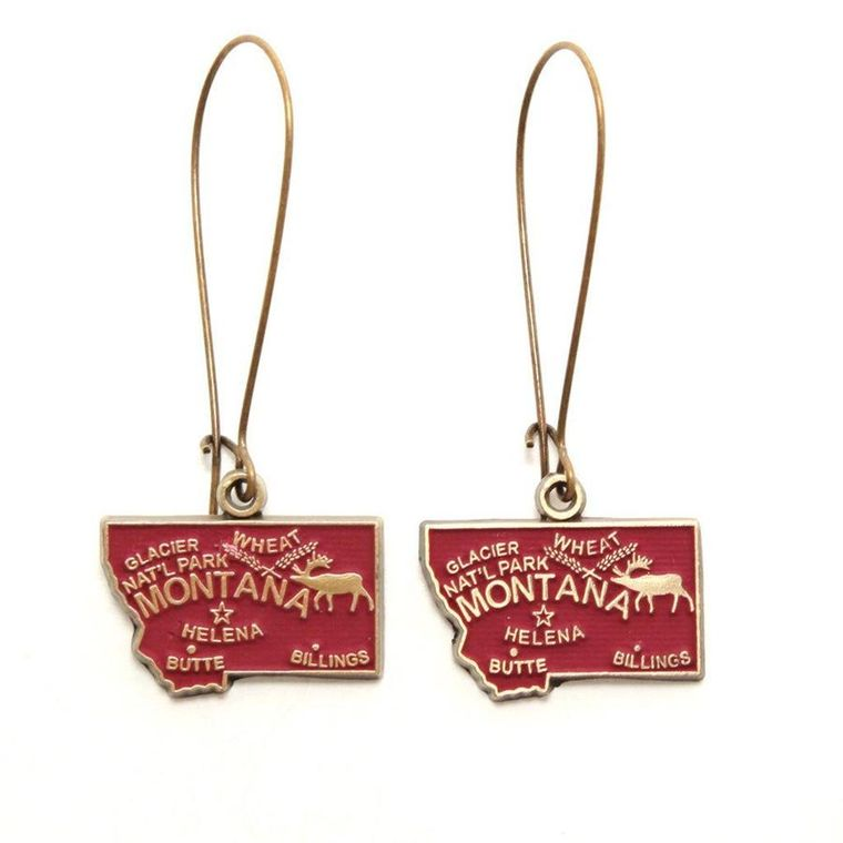 Montana State Earring