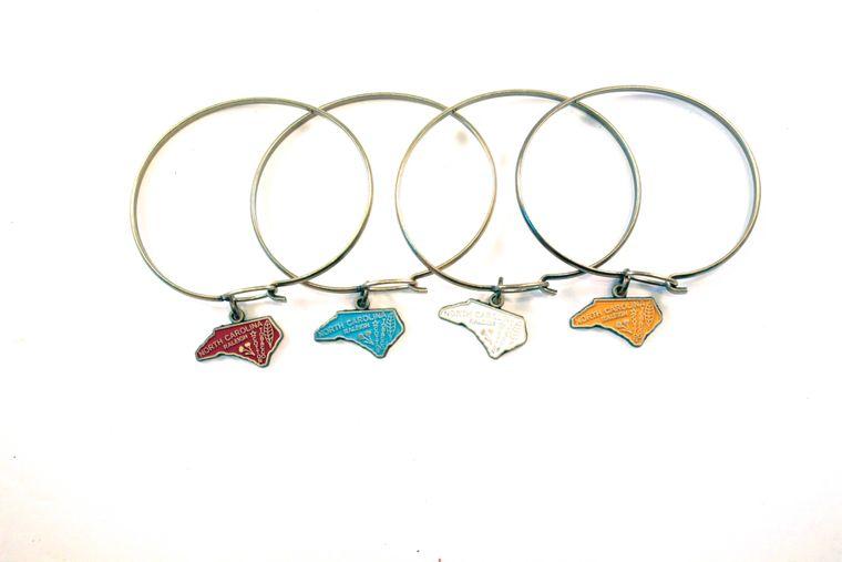 North Carolina State Charm Bracelet