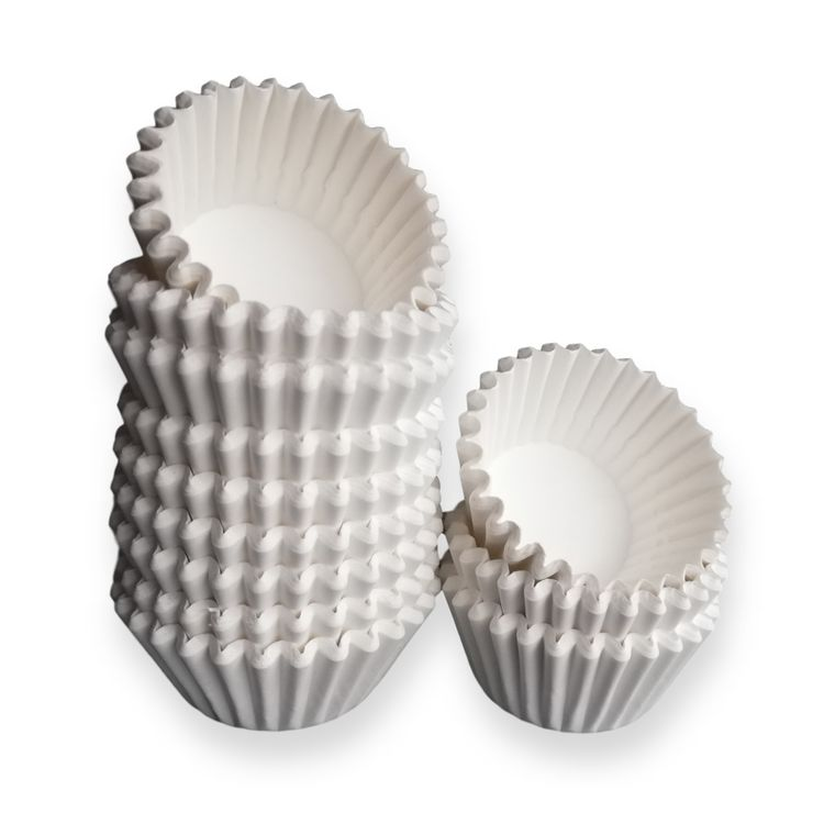 White Paper Mini Cupcake Liners - 300-Pack