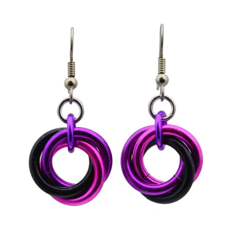 Knotted Metal Large Knot Earring - Rocker Chic