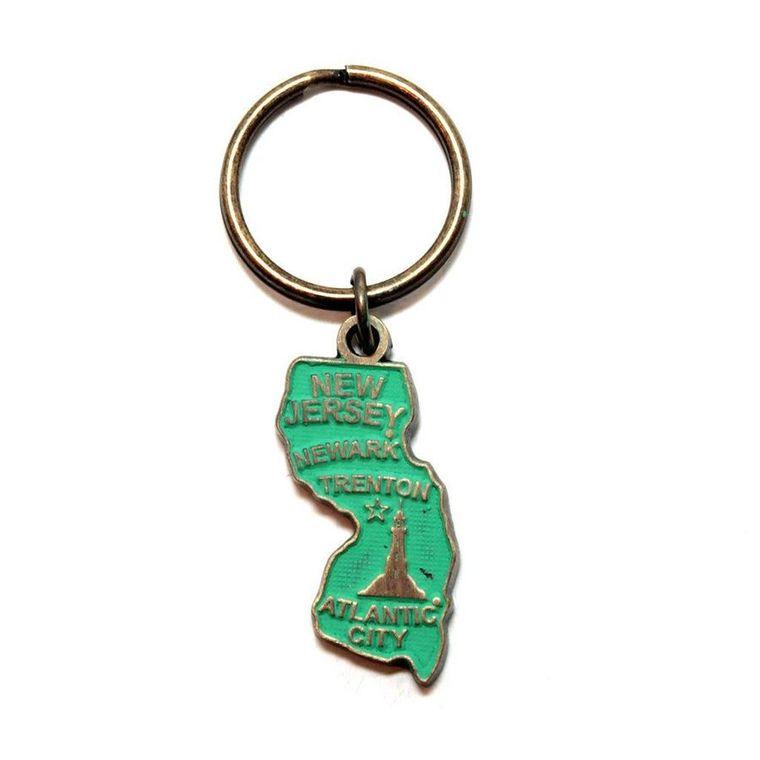 New Jersey Keychain