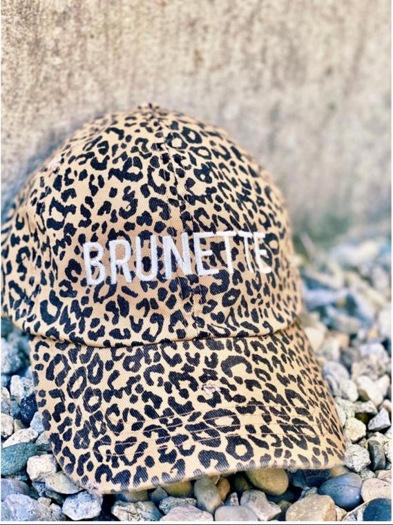 Leopard Brunette Embroidered Baseball Hat