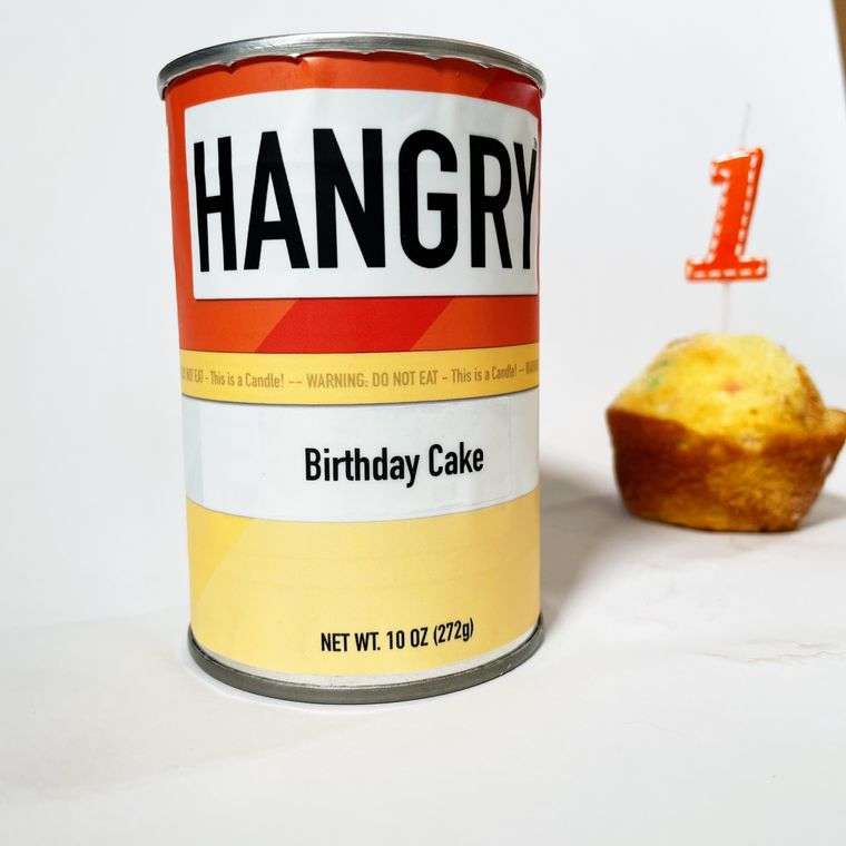 Hangry Birthday Cake Candle