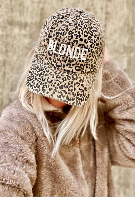 Leopard Blonde Embroidered Baseball Hat