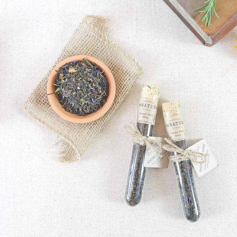 Cream Earl Grey - Loose Tea - Single Glass Tube