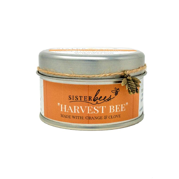 """Harvest Bee"" Beeswax Candles (with orange and clove) Set of 6"