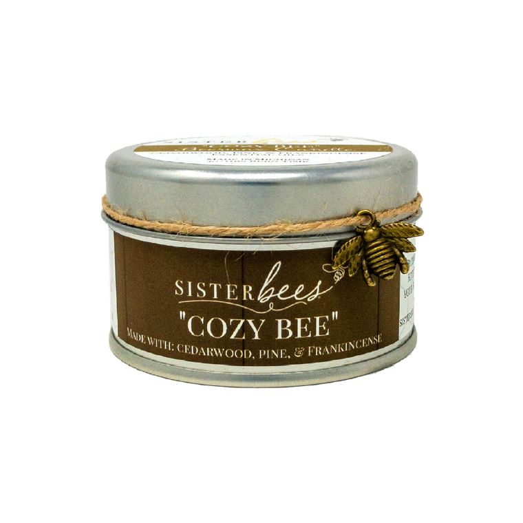 """Cozy Bee"" Beeswax Candles (With Cedarwood, Frankincense, & Pine)"