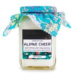 Alpine Cheer: square jar soy wax candle
