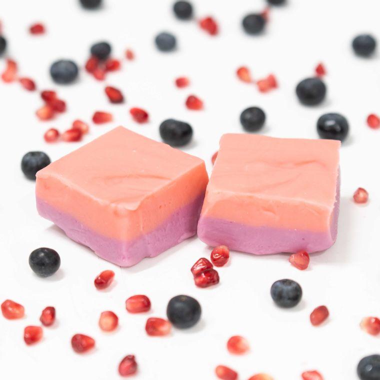 Blueberry Pomegranate Fudge