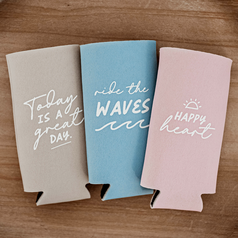 Skinny Can Coolers With Inspirational Sayings