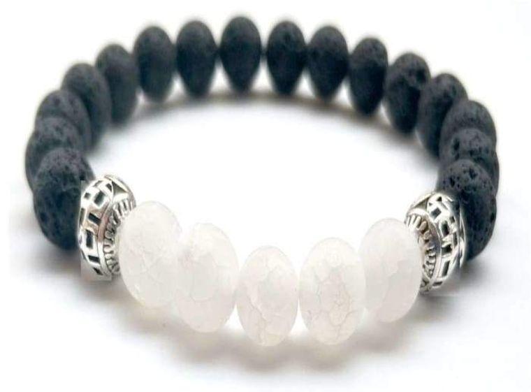 White Lava Stone Essential Oil Bracelet