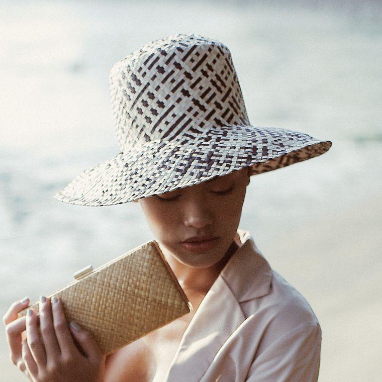 Borneo Fisherman Bucket Straw Hat - Black