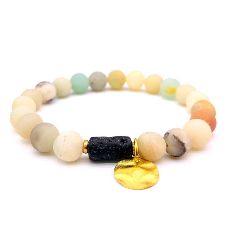 Sun Goddess Lava Stone Essential Oil Bracelet Light