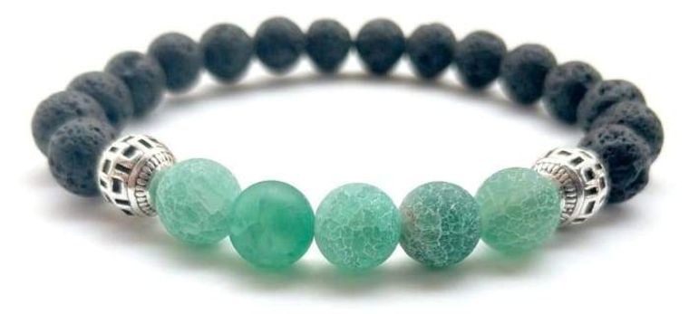 Green Lava Stone Essential Oil Bracelet