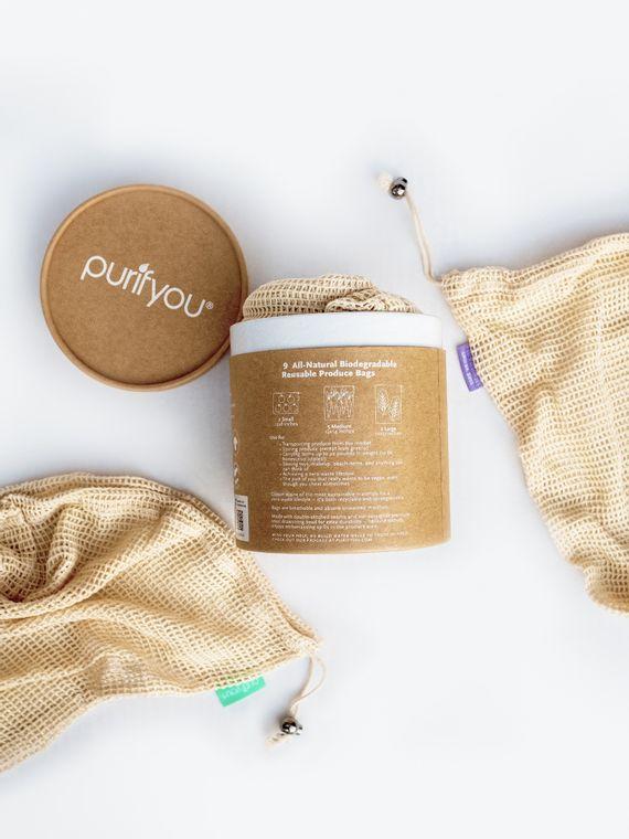 purifyou® Cotton Mesh Bags (9pcs/set)
