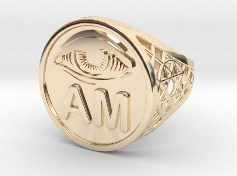EYE AM  medallion ring