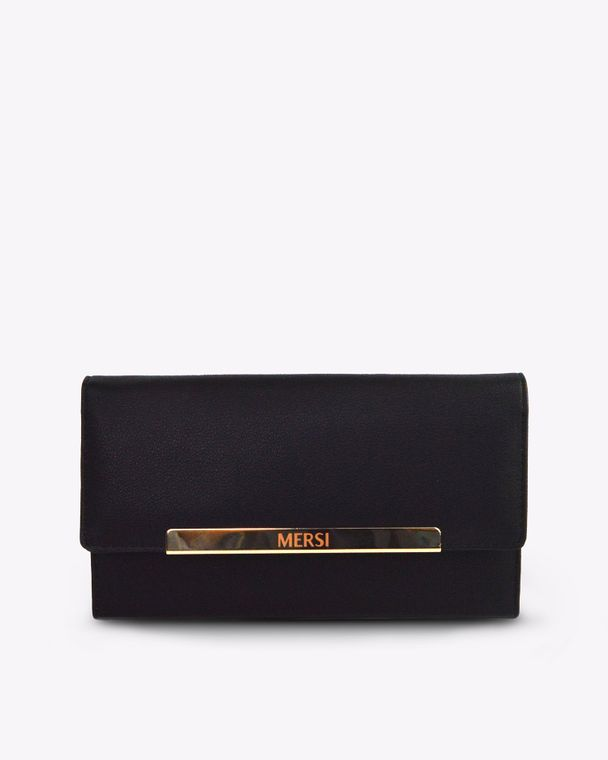 Evanna Trifold Wallet - Black